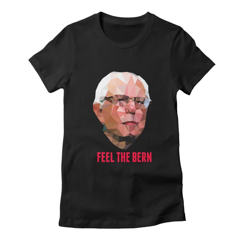 Bernie Women's Fitted T-Shirt by Angie Jones