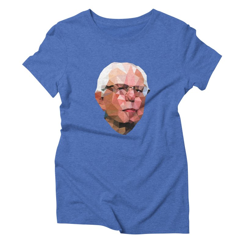Bernie II in Women's Triblend T-Shirt Blue Triblend by Angie Jones