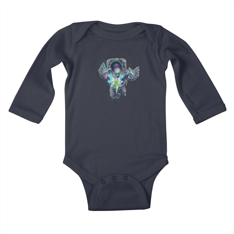 Spacefairy Kids Baby Longsleeve Bodysuit by angoes25's Artist Shop