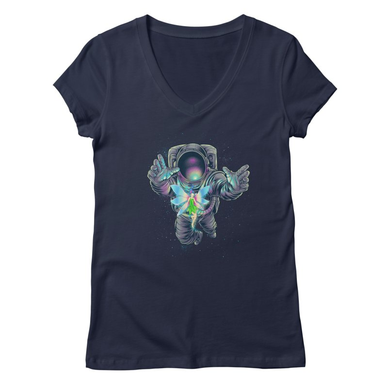 Spacefairy Women's Regular V-Neck by angoes25's Artist Shop