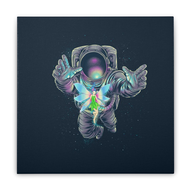 Spacefairy Home Stretched Canvas by angoes25's Artist Shop