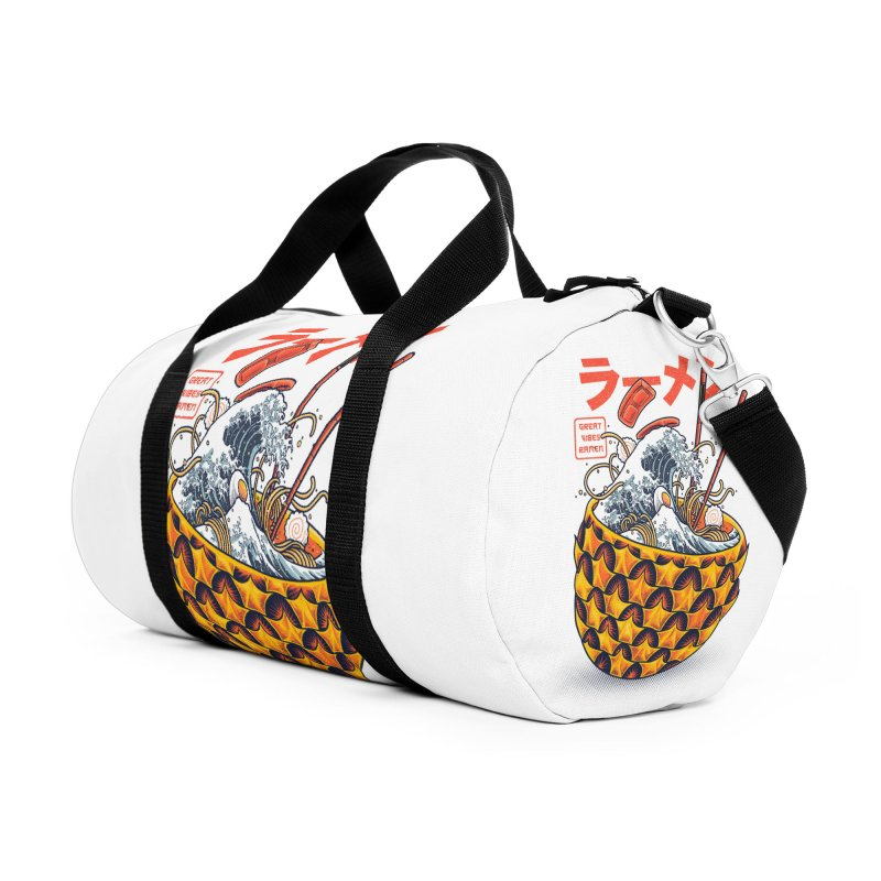 Great Vibes Ramen Accessories Duffel Bag Bag by angoes25's Artist Shop