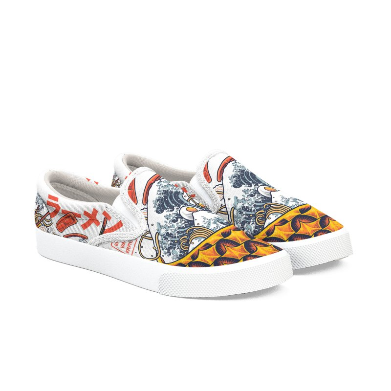 Great Vibes Ramen Women's Slip-On Shoes by angoes25's Artist Shop