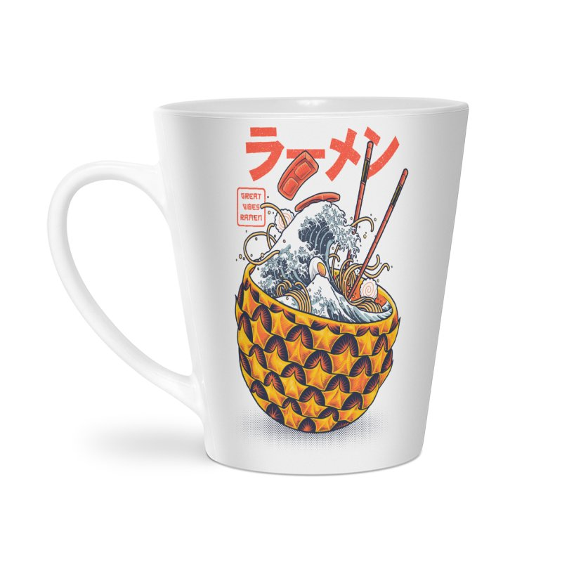 Great Vibes Ramen Accessories Latte Mug by angoes25's Artist Shop
