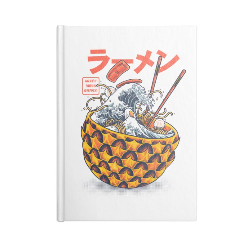 Great Vibes Ramen Accessories Lined Journal Notebook by angoes25's Artist Shop