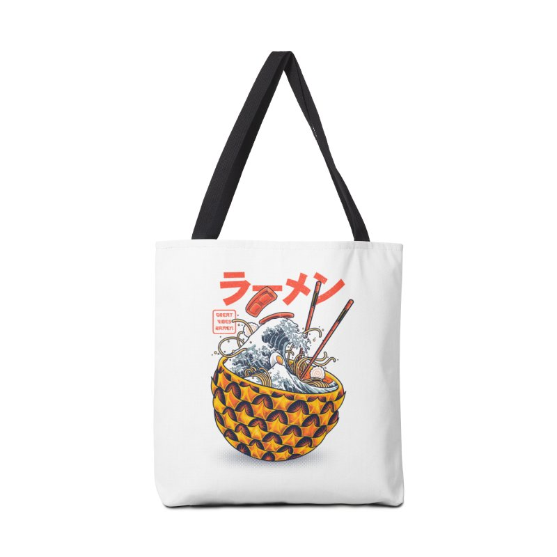 Great Vibes Ramen Accessories Tote Bag Bag by angoes25's Artist Shop
