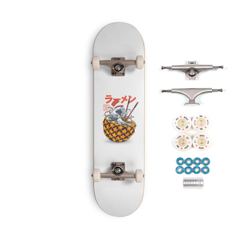Great Vibes Ramen Accessories Complete - Premium Skateboard by angoes25's Artist Shop