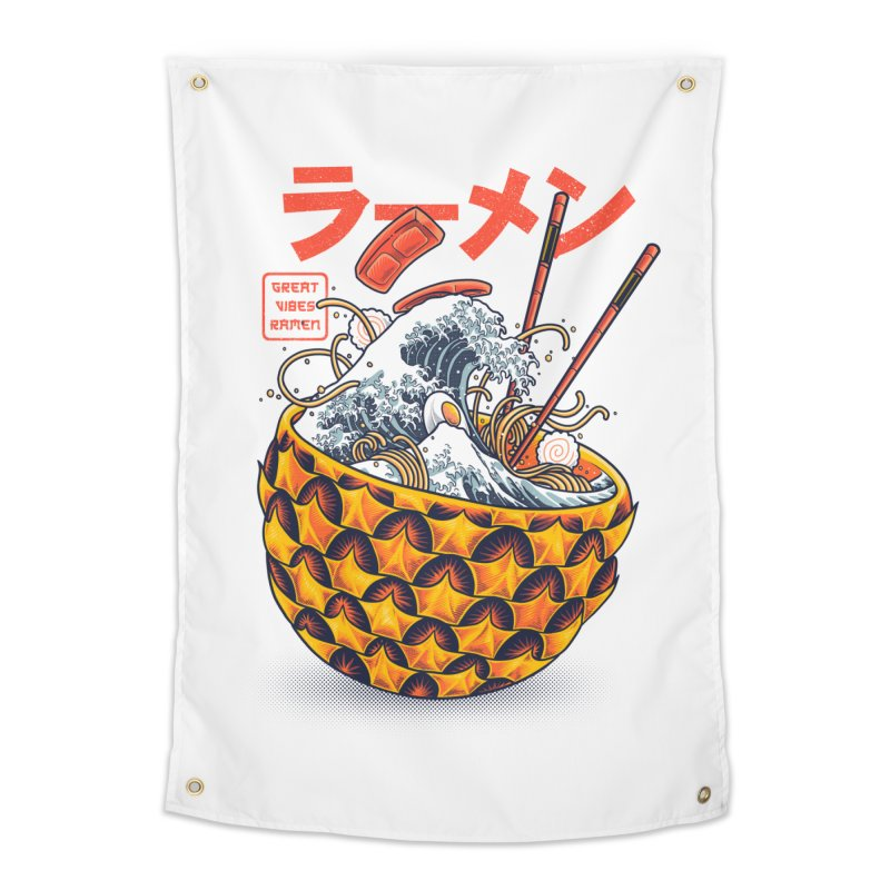 Great Vibes Ramen Home Tapestry by angoes25's Artist Shop