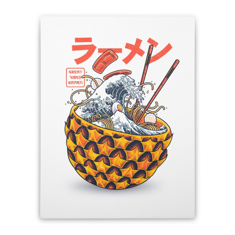 Great Vibes Ramen Home Stretched Canvas by angoes25's Artist Shop
