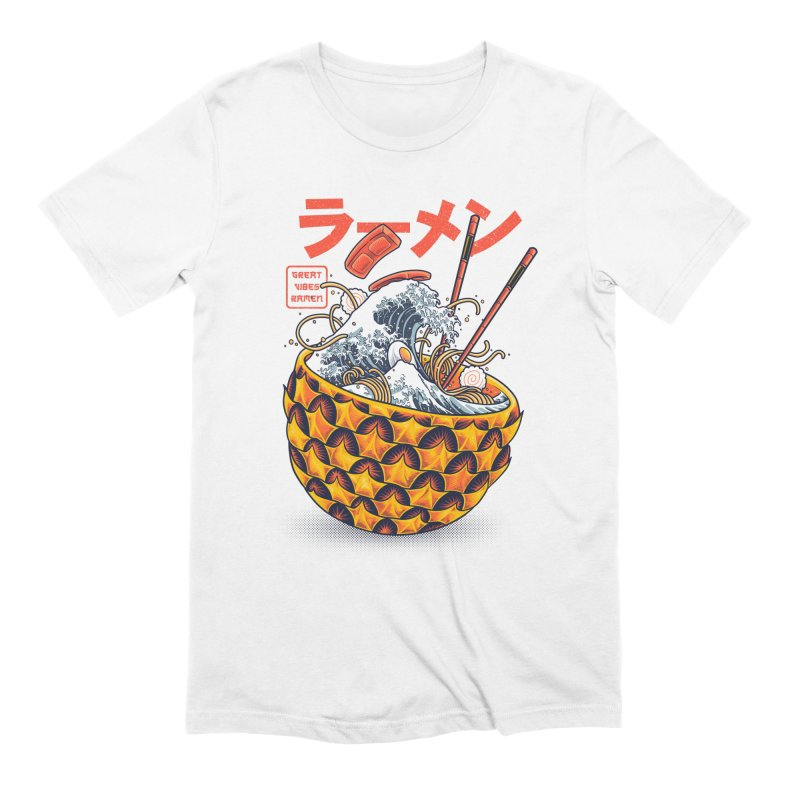 Great Vibes Ramen Men's Extra Soft T-Shirt by angoes25's Artist Shop