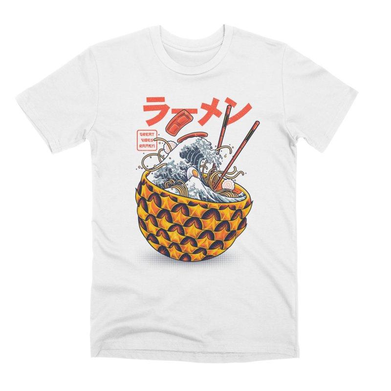 Great Vibes Ramen Men's Premium T-Shirt by angoes25's Artist Shop