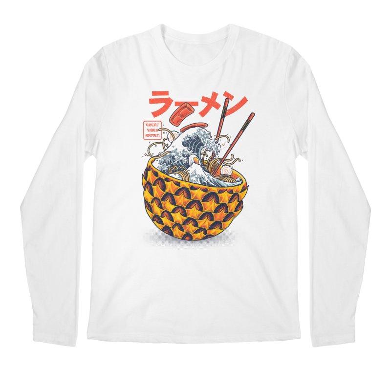 Great Vibes Ramen Men's Regular Longsleeve T-Shirt by angoes25's Artist Shop