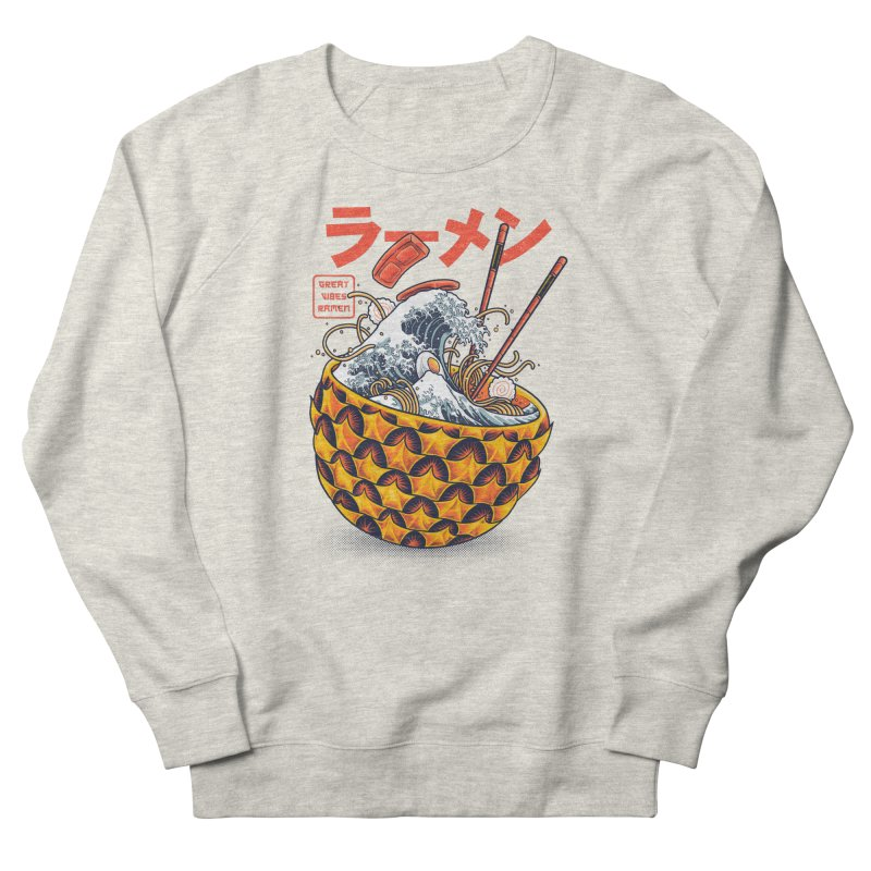 Great Vibes Ramen Men's French Terry Sweatshirt by angoes25's Artist Shop