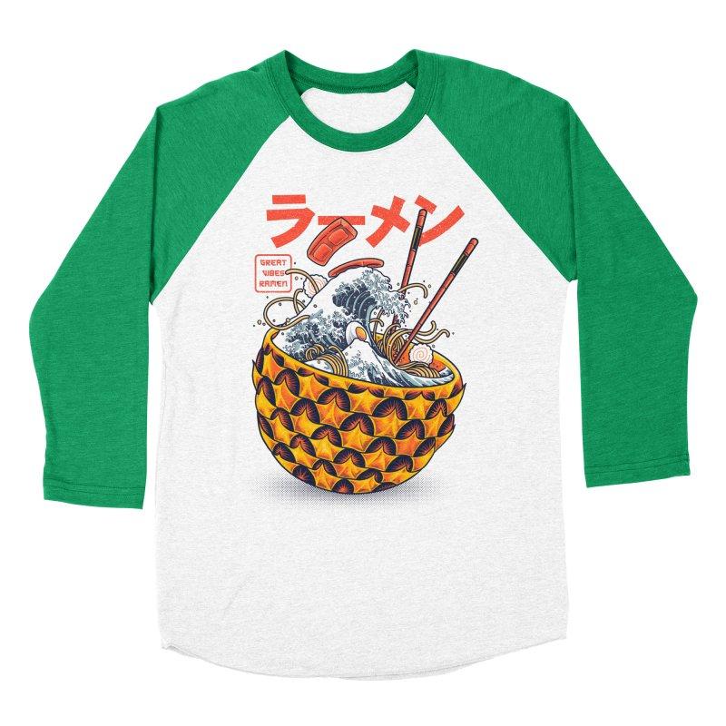 Great Vibes Ramen Women's Baseball Triblend Longsleeve T-Shirt by angoes25's Artist Shop