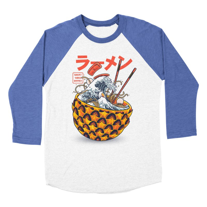 Great Vibes Ramen Men's Baseball Triblend Longsleeve T-Shirt by angoes25's Artist Shop