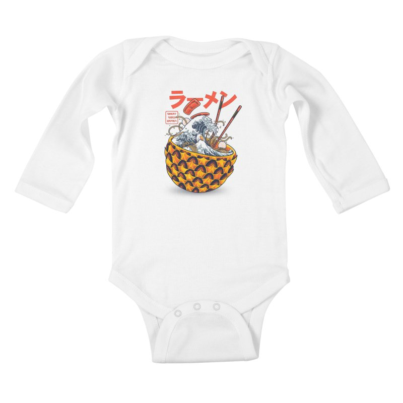 Great Vibes Ramen Kids Baby Longsleeve Bodysuit by angoes25's Artist Shop