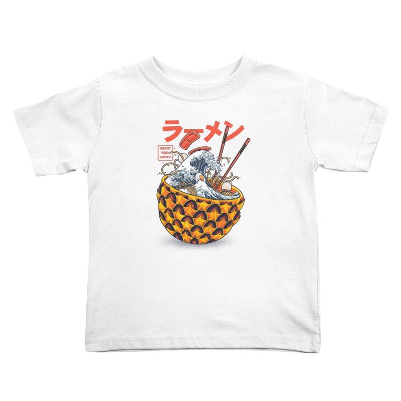 Great Vibes Ramen Kids Toddler T-Shirt by angoes25's Artist Shop