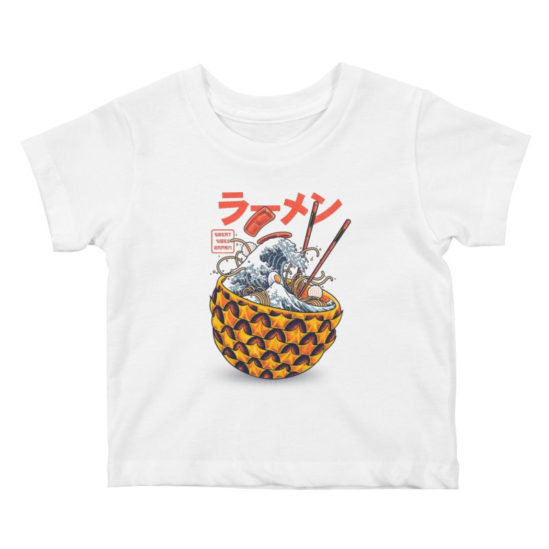 Great Vibes Ramen Kids Baby T-Shirt by angoes25's Artist Shop