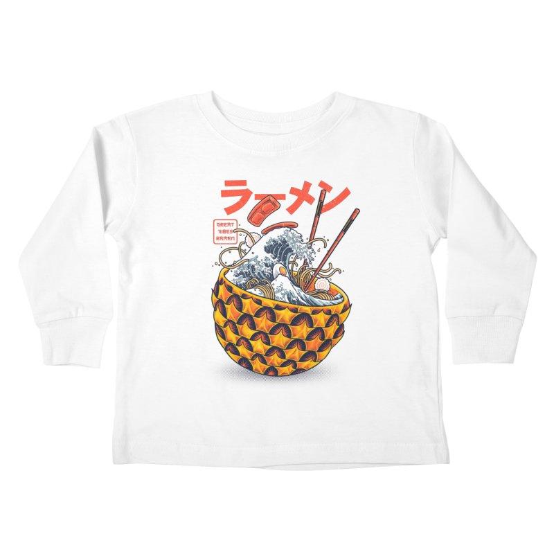 Great Vibes Ramen Kids Toddler Longsleeve T-Shirt by angoes25's Artist Shop