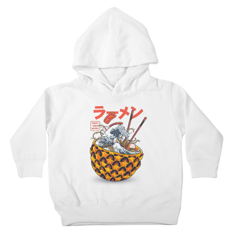 Great Vibes Ramen Kids Toddler Pullover Hoody by angoes25's Artist Shop