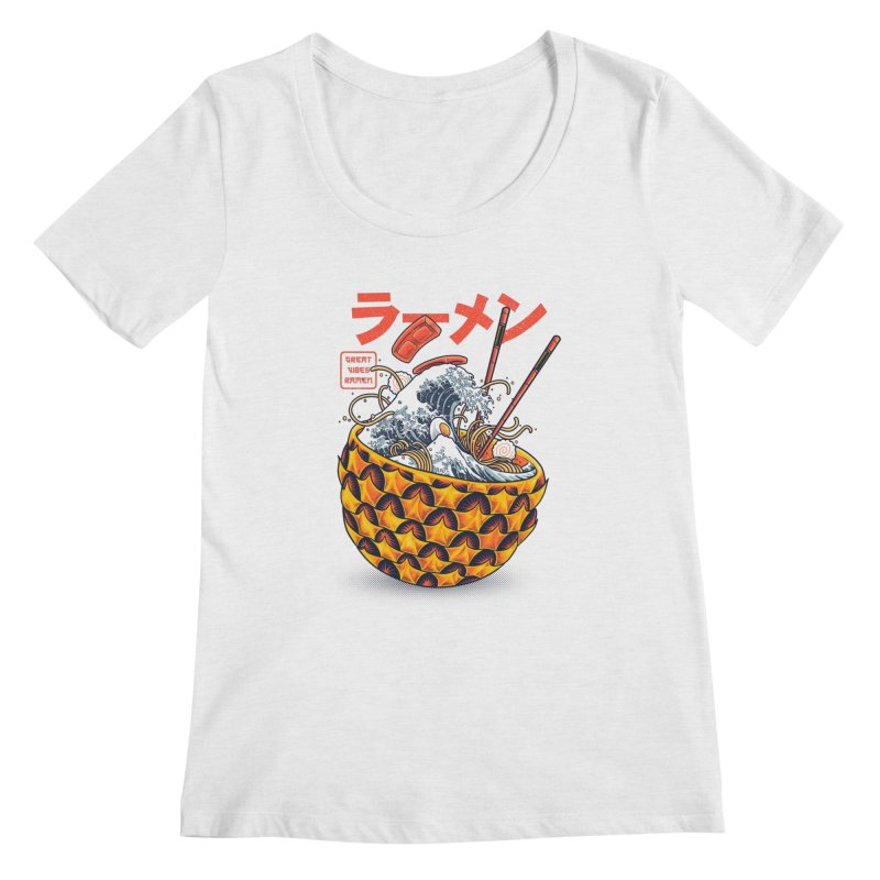 Great Vibes Ramen Women's Regular Scoop Neck by angoes25's Artist Shop
