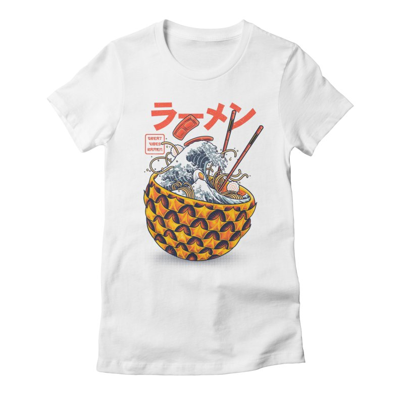 Great Vibes Ramen Women's Fitted T-Shirt by angoes25's Artist Shop