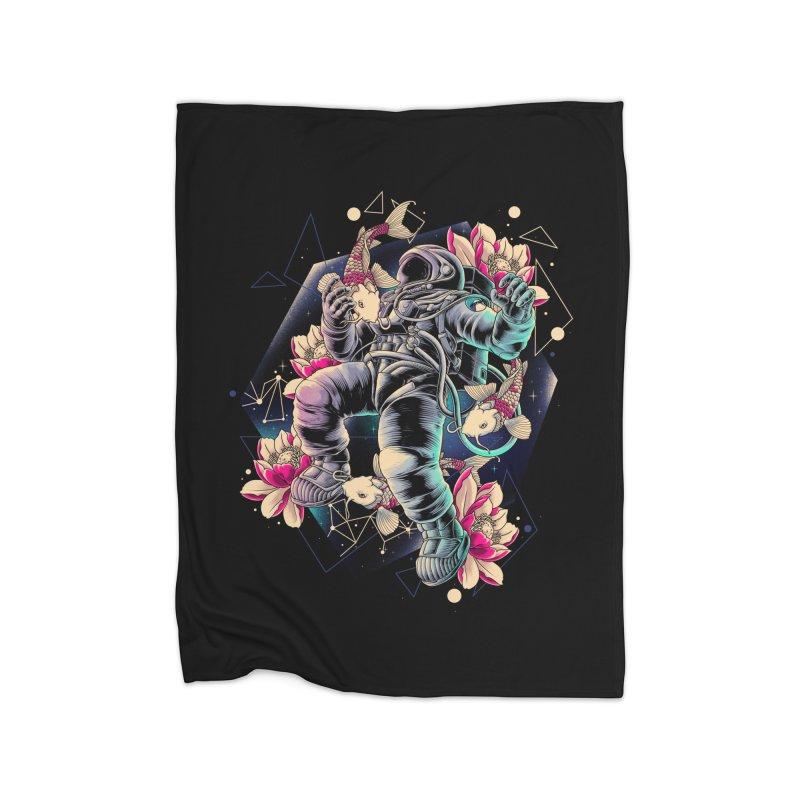 Deep Space Home Fleece Blanket Blanket by angoes25's Artist Shop