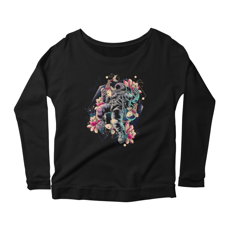 Deep Space Women's Scoop Neck Longsleeve T-Shirt by angoes25's Artist Shop