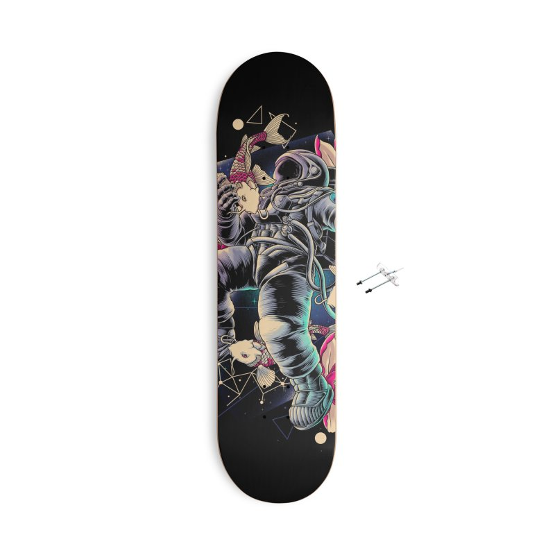Deep Space Accessories With Hanging Hardware Skateboard by angoes25's Artist Shop
