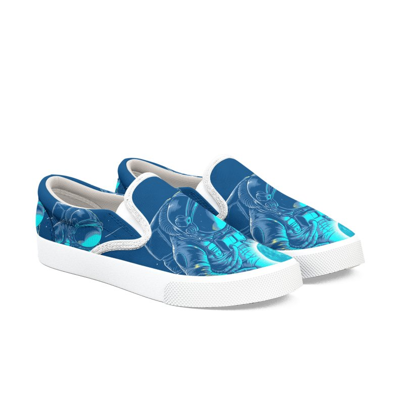 I'll hold the (blue)moon for you Women's Shoes by angoes25's Artist Shop