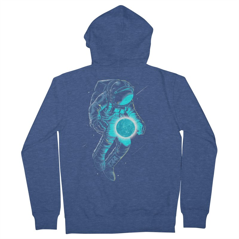 Blue Moon Men's Zip-Up Hoody by angoes25's Artist Shop