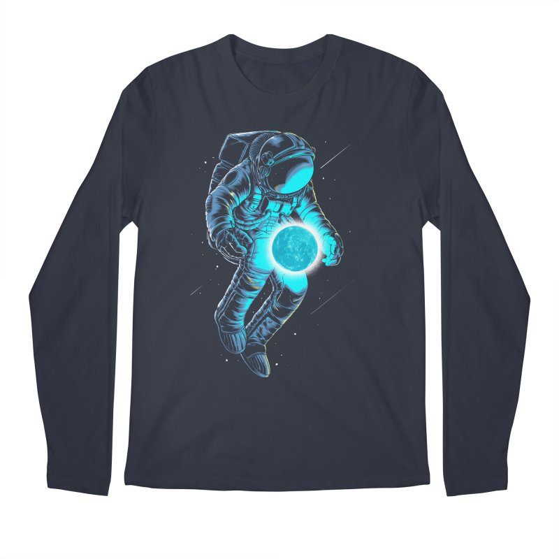 I'll hold the (blue)moon for you Men's Longsleeve T-Shirt by angoes25's Artist Shop