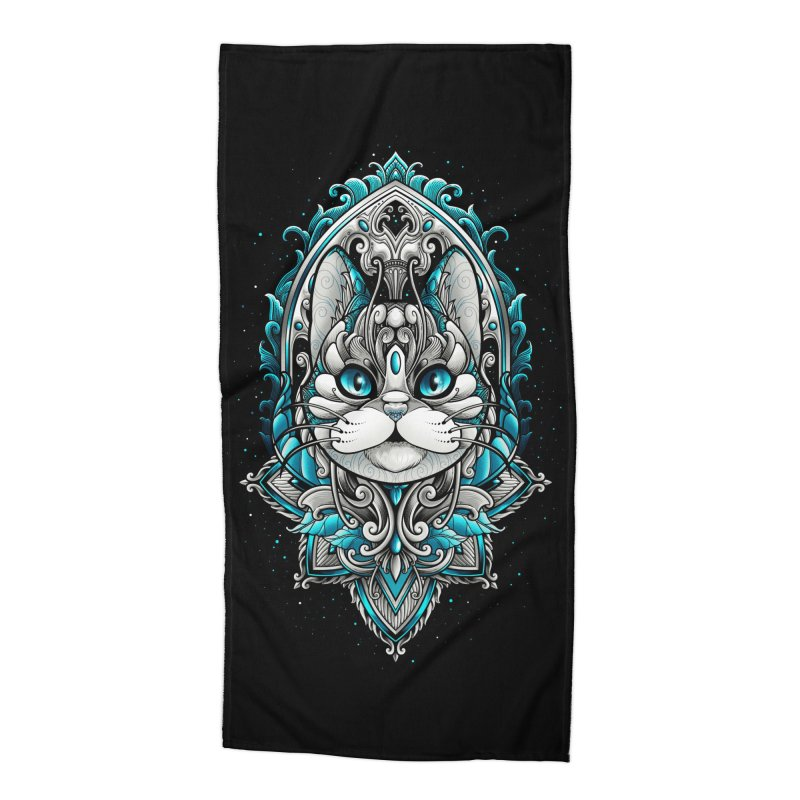 Great Cat Accessories Beach Towel by angoes25's Artist Shop