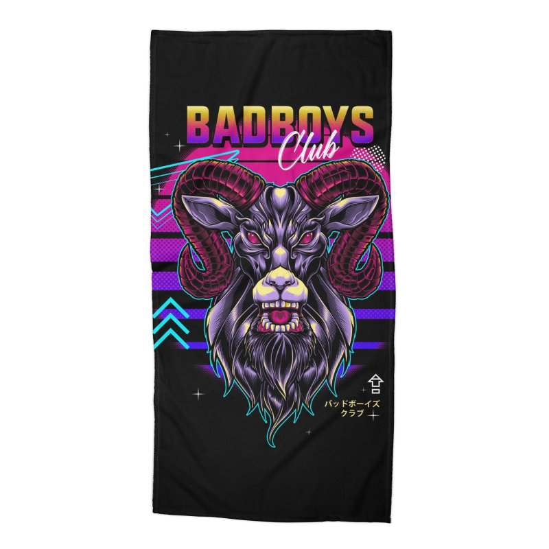 80s Badboys Club Accessories Beach Towel by angoes25's Artist Shop