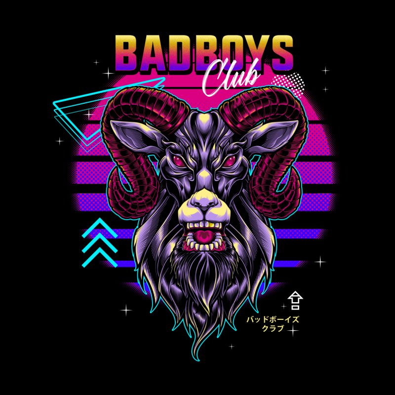 80s Badboys Club Men's Longsleeve T-Shirt by angoes25's Artist Shop