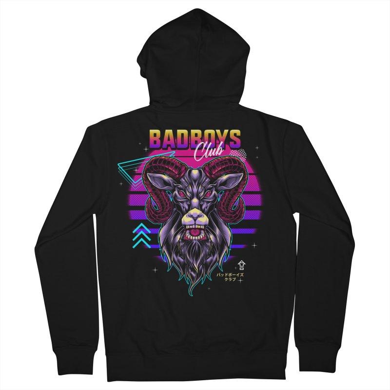 80s Badboys Club Men's Zip-Up Hoody by angoes25's Artist Shop