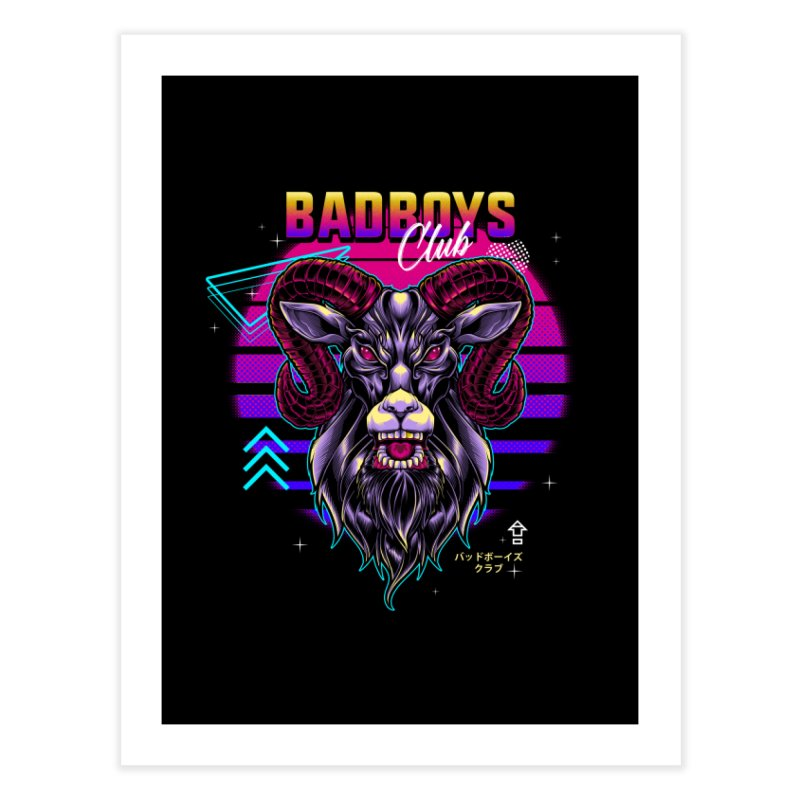 80s Badboys Club Home Fine Art Print by angoes25's Artist Shop