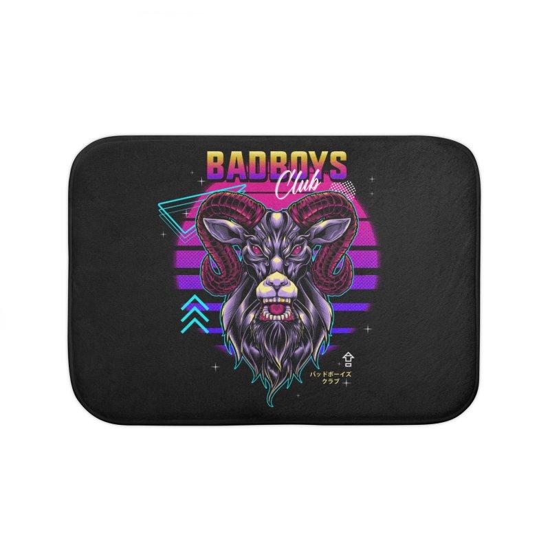 80s Badboys Club Home Bath Mat by angoes25's Artist Shop