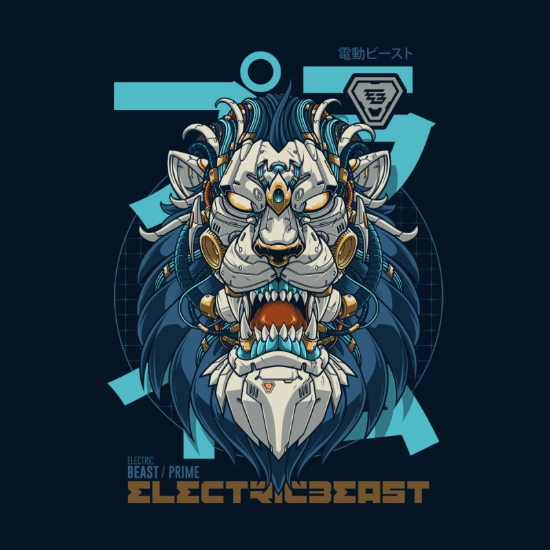 Electric Beast - Prime - Mechalion Men's T-Shirt by angoes25's Artist Shop