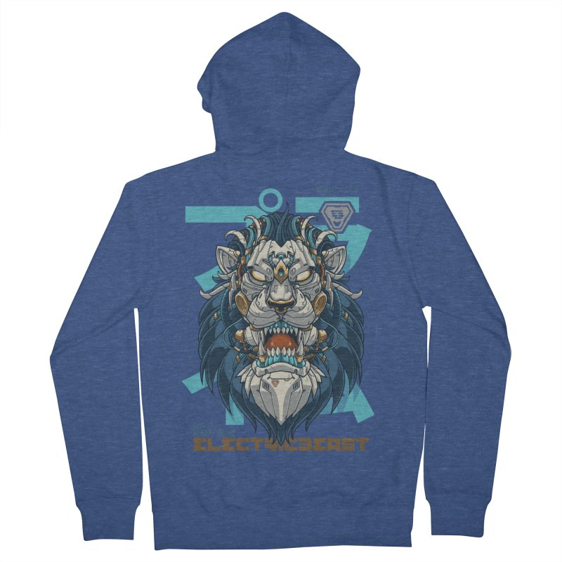 Electric Beast - Prime - Mechalion Men's Zip-Up Hoody by angoes25's Artist Shop