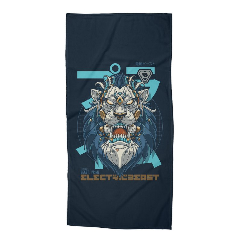 Electric Beast - Prime - Mechalion Accessories Beach Towel by angoes25's Artist Shop