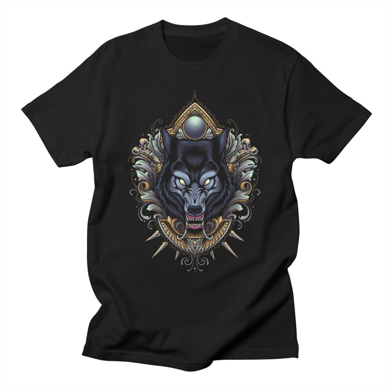 Wolf - Eternal Hunter Men's T-Shirt by angoes25's Artist Shop