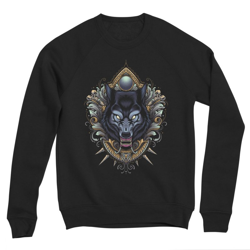 Wolf - Eternal Hunter Men's Sweatshirt by angoes25's Artist Shop