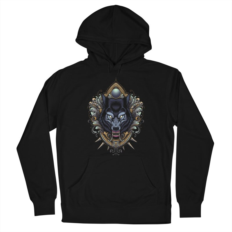 Wolf - Eternal Hunter Women's Pullover Hoody by angoes25's Artist Shop