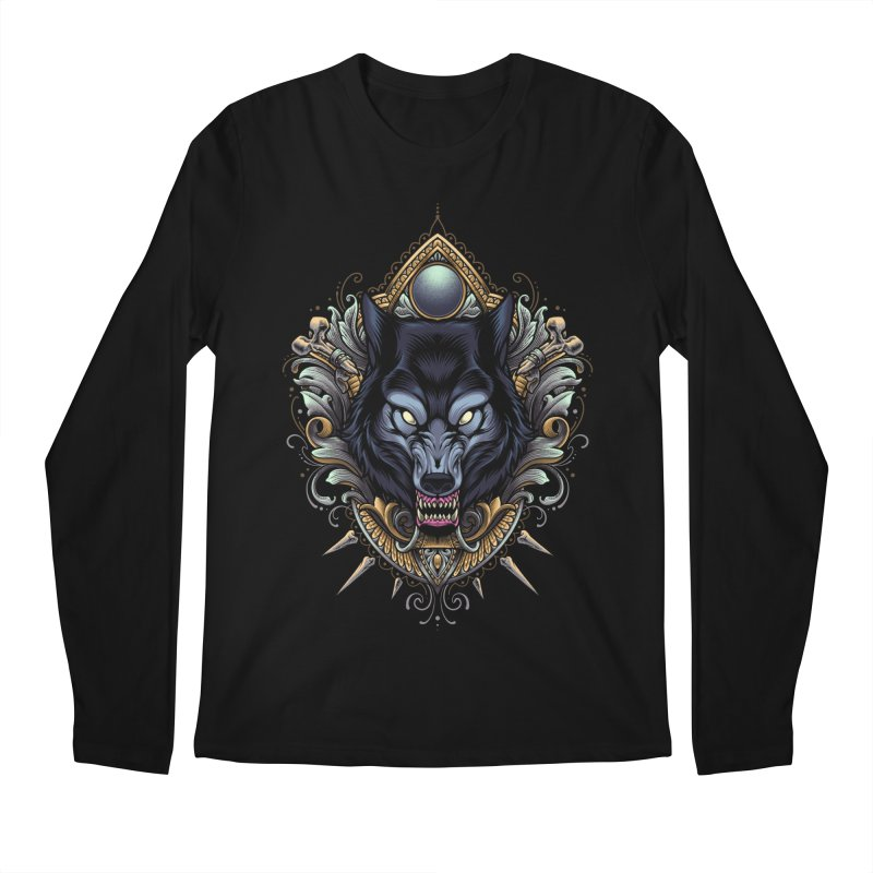 Wolf - Eternal Hunter Men's Longsleeve T-Shirt by angoes25's Artist Shop