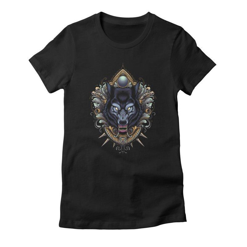 Wolf - Eternal Hunter Women's T-Shirt by angoes25's Artist Shop