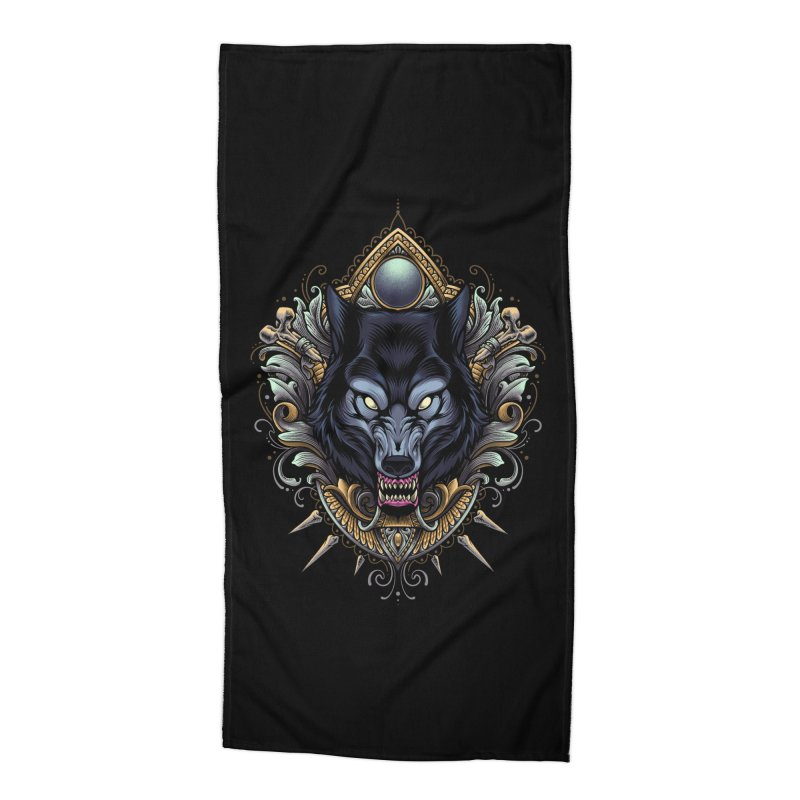 Wolf - Eternal Hunter Accessories Beach Towel by angoes25's Artist Shop