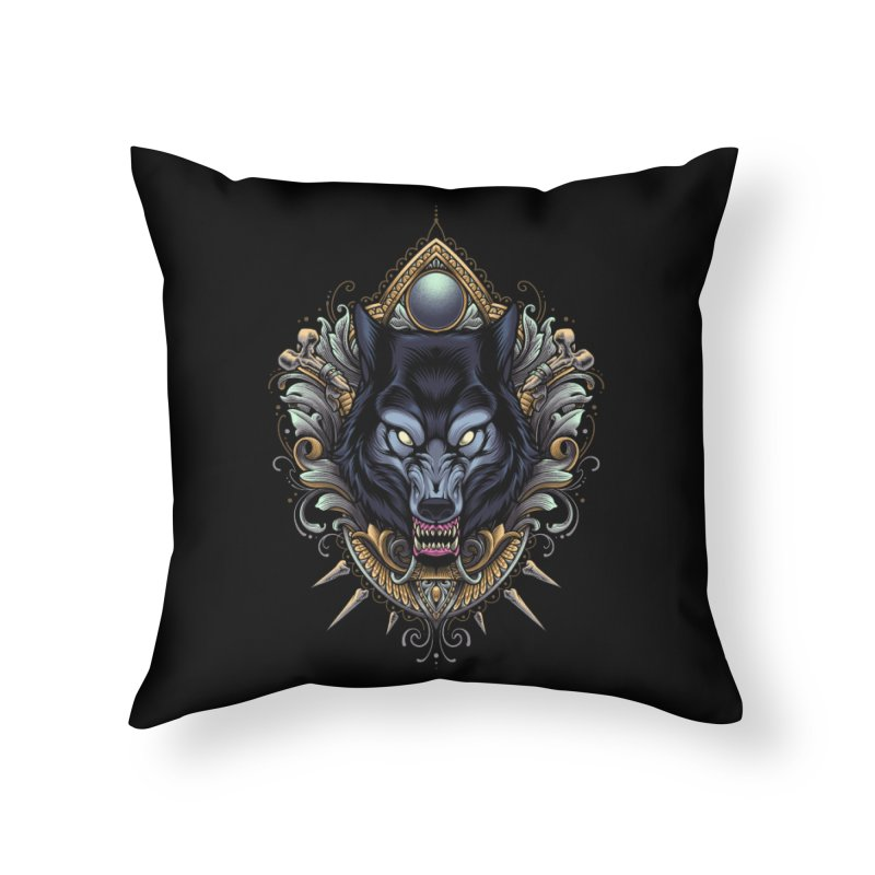 Wolf - Eternal Hunter Home Throw Pillow by angoes25's Artist Shop
