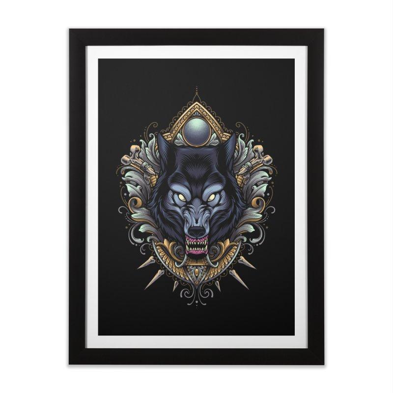 Wolf - Eternal Hunter Home Framed Fine Art Print by angoes25's Artist Shop
