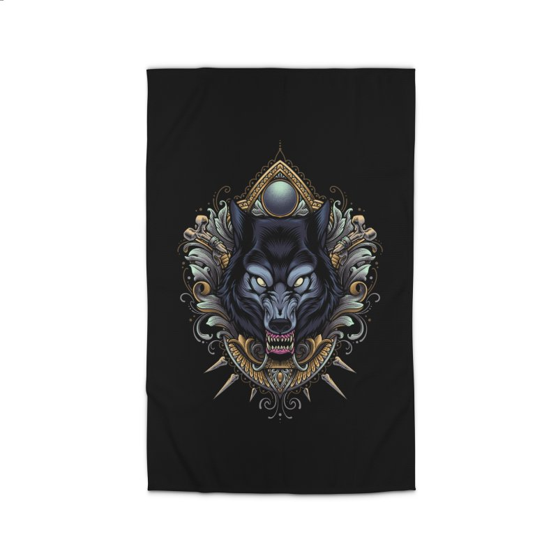 Wolf - Eternal Hunter Home Rug by angoes25's Artist Shop